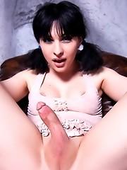 Stunning Bailey Jay posing as a naughty cave girl