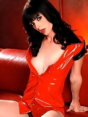 Gorgeous Mandy Mitchell posing as a slutty nurse