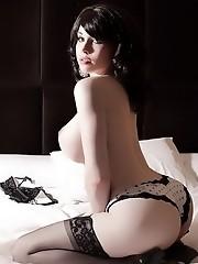 Big titted transsexual Sarina Valentina posing
