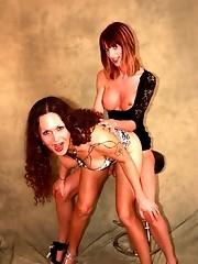 2 beautiful tgirls Nikki and Sammi sucking and posing