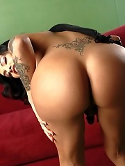 Adorable tgirl Foxxy fingering her wet tight butt