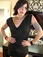 Busty tgirl Alyssa posing for the camera