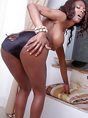 Chocolate beauty Natassia stripping