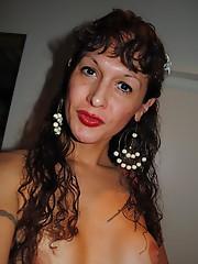 Nikki posing with tgirls in Switzerland