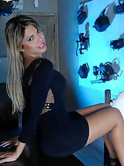 Gorgeous Milena posing her goodies