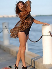 Smoking hot transsexual Jonelle posing