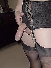 Some Pantie Boyz just love to wrap knickers around their hard cocks and masturbate.