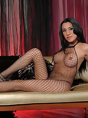 Dirty Ximena in fishnet bodysuit