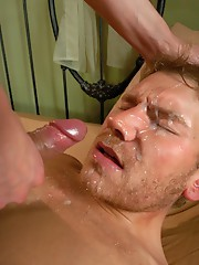 One of the biggest cum loads ever from TS Venus - she pops a windfall of cum onto her man`s face, mouth, hair, eyes after super sexy, intense fuc
