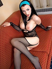 Sexy Bailey in a bodystocking