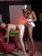 Nurse Natassia fucks her patient