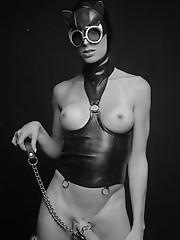 Amazing TS catwoman Angelina posing
