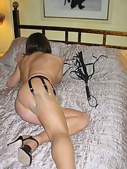 Sexy brunette crossdresser taking a big hard dick in her sweet and innocent mouth