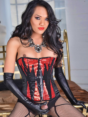 Shemale in Corset
