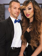 Venus Lux cums twice on her man, and he as a reward for taking a massive dick fucking, cums twice too.
