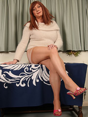 Horny crossdresser Luci May was feeling very naughty...