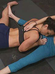 Hot Girls in Yoga Pants get hot and horny for each other. When Wenona spots Kelly`s package she puts puts the moves on Kelly