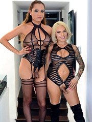 Jessica Fox and TS Foxxy