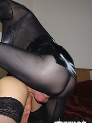 Goth TGirl slut fucks Zoe in her tight asshole, after sucking her huge cock
