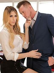 Casey Kisses and Pierce Paris