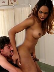 TS Sexy Jade Blows hot guy, ties him up and fucks him hard