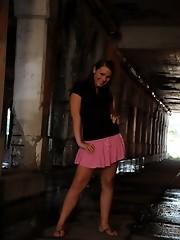 Teenage TS Ashley George stripping