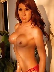 Beautiful tgirl Victoria di Prada posing