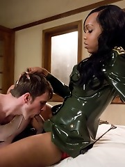 Sexy Jade drill Sergeant with a big black cock ass fucking