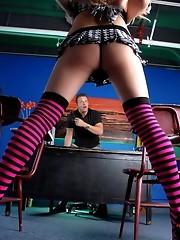 Naughty TS schoolgirl gets banged by her horny teacher