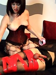 Helga loves to tie up her TGirl sluts and punish them