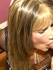 Cock sucking crossdresser sluts take mouthfulls of dick