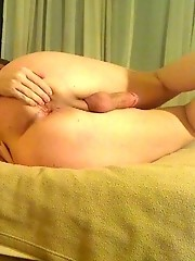 Busty TS hottie Wendy masturbating on the bed