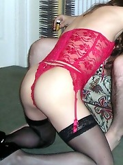 Kirsty takes a cock in her mouth and then her sweet ass