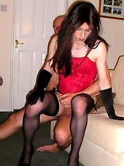 Kirsty riding a firm cock during a naughty orgy