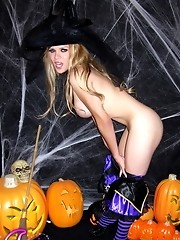 Transsexual Jesse wishing happy halloween in her way