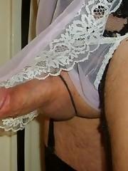 Slutty Pantie Boys showing off their hard cocks