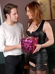 Amazing TMILF Jasmine getting her Valentine`s gift from Wolfe