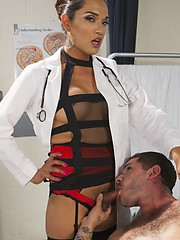 TS Jessica Fox uses her beautiful cock as the remedy for all that ails you!