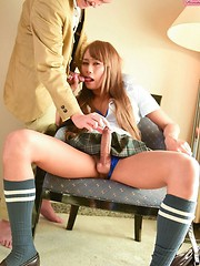MinaSexy Minami Minamino is a hot petite Japanese tgirl with a sexy slim body, a nice firm bubble butt and a big hard cock!