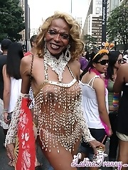 Gay Parade in Sao Paulo Brazil 2008 with Nikki Montero