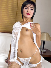 Mature Bareback in White Babydoll