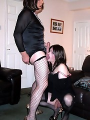 Kirsty loves taking TGirl cock in her mouth and ass